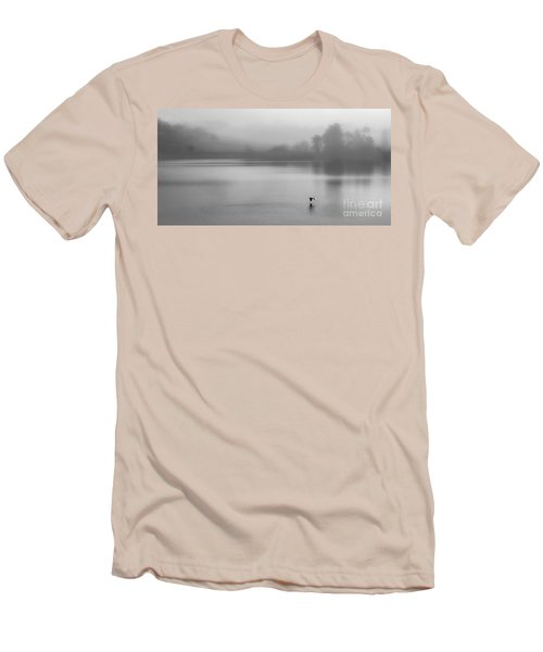 Misty Morning On The Lake Men's T-Shirt (Slim Fit) by Linsey Williams