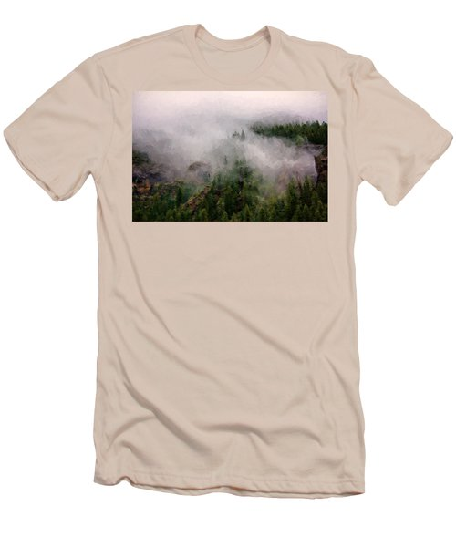 Misty Pines Men's T-Shirt (Slim Fit) by Lana Trussell