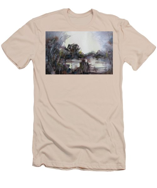 Misty Pond Men's T-Shirt (Slim Fit) by Geni Gorani