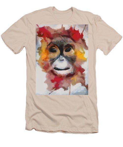 Monkey Splat Men's T-Shirt (Slim Fit) by Catherine Lott