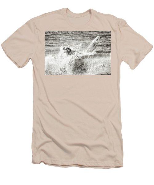 Monochrome Wipeout Men's T-Shirt (Slim Fit) by Nicholas Burningham