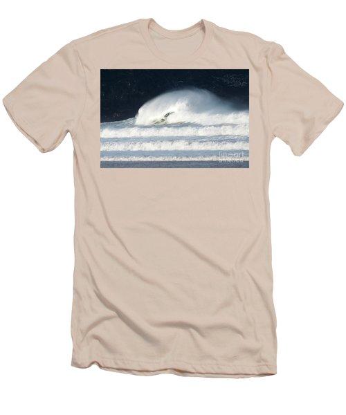 Men's T-Shirt (Slim Fit) featuring the photograph Monster Wave by Nicholas Burningham