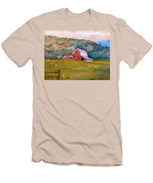 Montana Barn Men's T-Shirt (Slim Fit) by Larry Hamilton