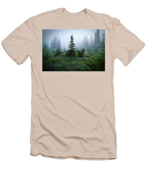 Moody Myrtle Falls Trail At Mount Rainier Men's T-Shirt (Athletic Fit)