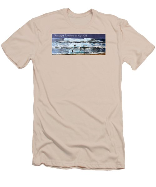 Moonlight Swimming On Cape Cod Men's T-Shirt (Slim Fit) by Rita Brown