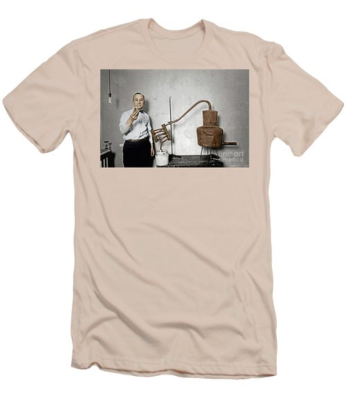 Men's T-Shirt (Athletic Fit) featuring the photograph Moonshine Distillery by Granger