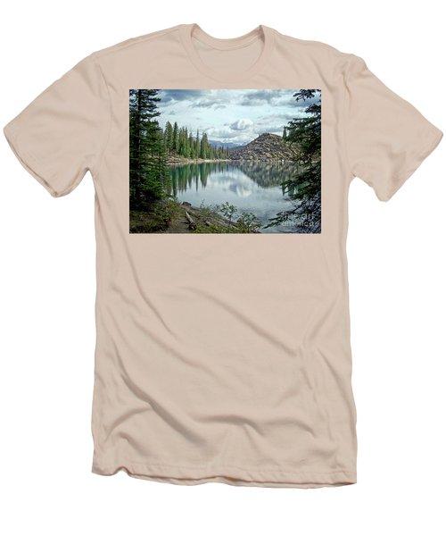 Moraine Lake Canadian Rockies Men's T-Shirt (Slim Fit) by Lynn Bolt