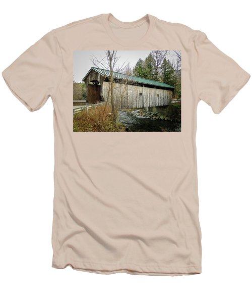 Morgan Covered Bridge Men's T-Shirt (Athletic Fit)