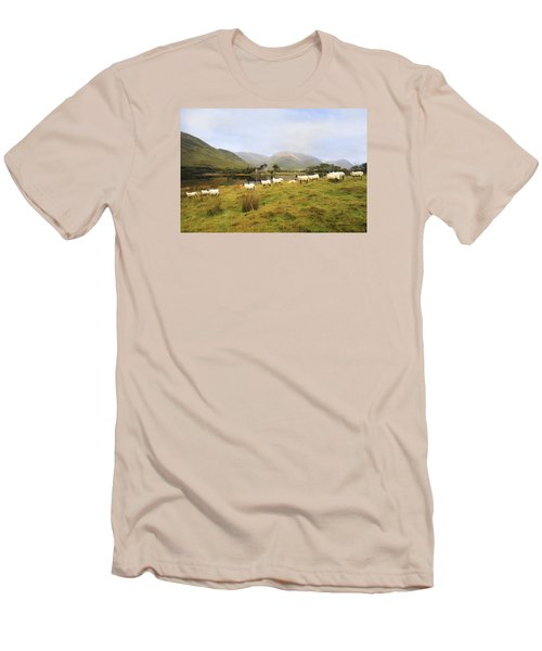 Morning At Kilchurn Men's T-Shirt (Slim Fit) by Roy  McPeak