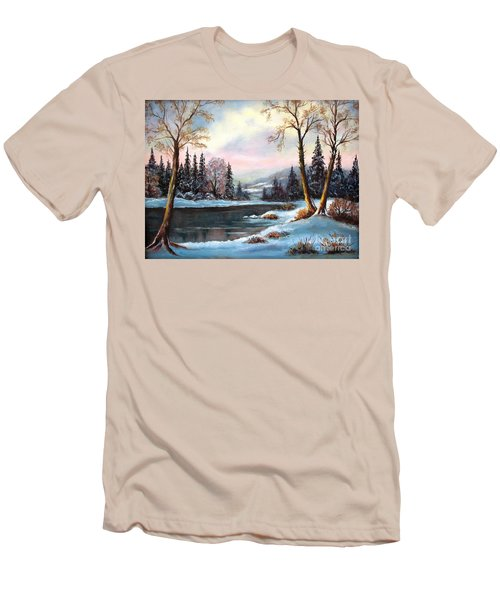 Men's T-Shirt (Slim Fit) featuring the painting Morning Glory by Hazel Holland