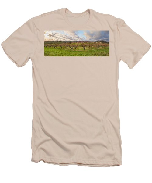 Morning Glory Orchards Men's T-Shirt (Slim Fit) by Angelo Marcialis