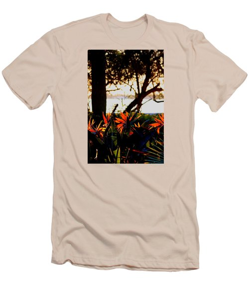Morning In Florida Men's T-Shirt (Slim Fit) by Diane Merkle