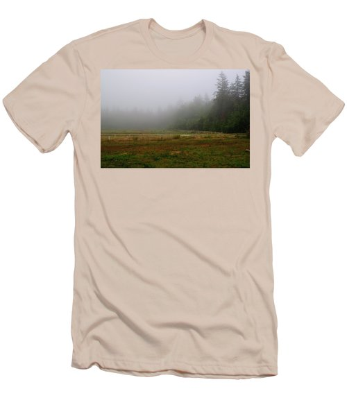Men's T-Shirt (Athletic Fit) featuring the photograph Morning Mist Solitude by Tikvah's Hope