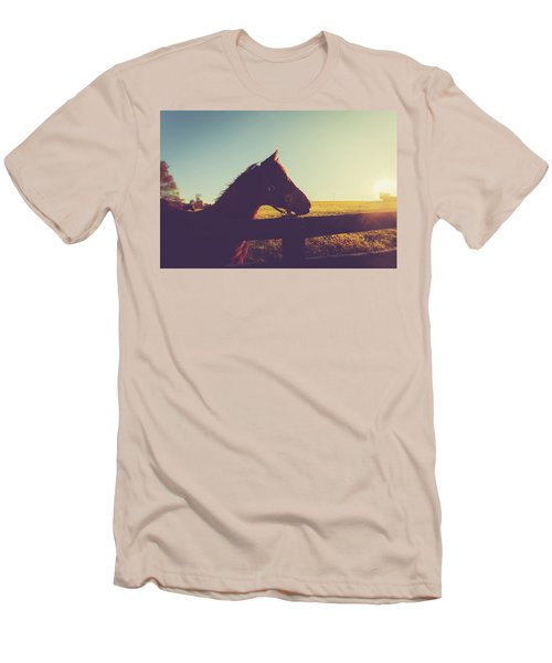 Men's T-Shirt (Slim Fit) featuring the photograph Morning  by Shane Holsclaw