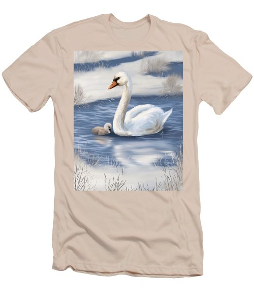 Men's T-Shirt (Slim Fit) featuring the painting Mother Love by Veronica Minozzi