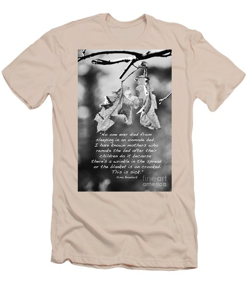 Men's T-Shirt (Slim Fit) featuring the photograph Mother's Day Saying by Debby Pueschel