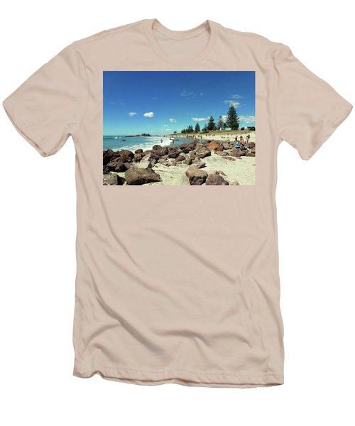 Mount Maunganui Beach 2 - Tauranga New Zealand Men's T-Shirt (Slim Fit) by Selena Boron