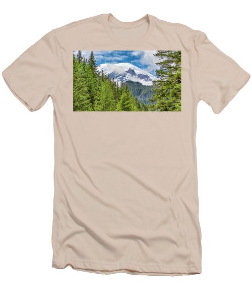 Men's T-Shirt (Slim Fit) featuring the photograph Mount Rainier View by Stephen Stookey