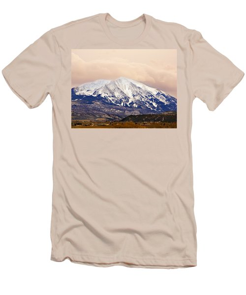 Mount Sopris Men's T-Shirt (Slim Fit) by Marilyn Hunt