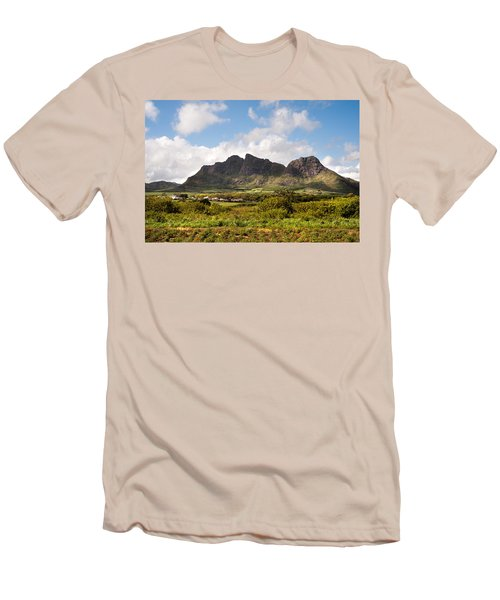 Men's T-Shirt (Athletic Fit) featuring the photograph Mountain Range In Mauritius by Jenny Rainbow