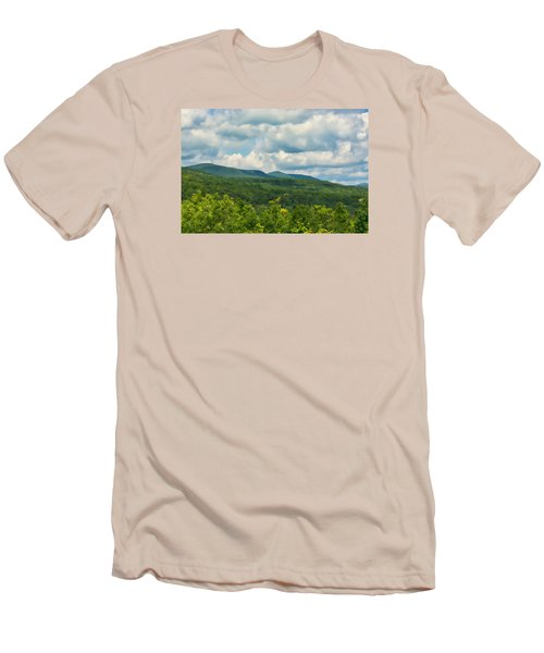 Mountain Vista In Summer Men's T-Shirt (Slim Fit) by Nancy De Flon