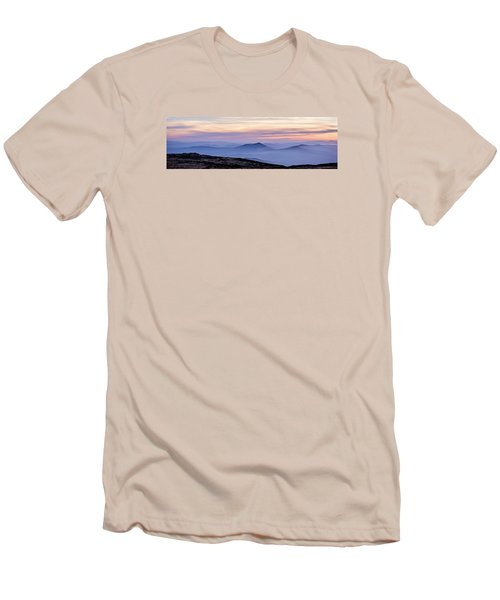 Mountains And Mist Men's T-Shirt (Slim Fit) by Marion McCristall