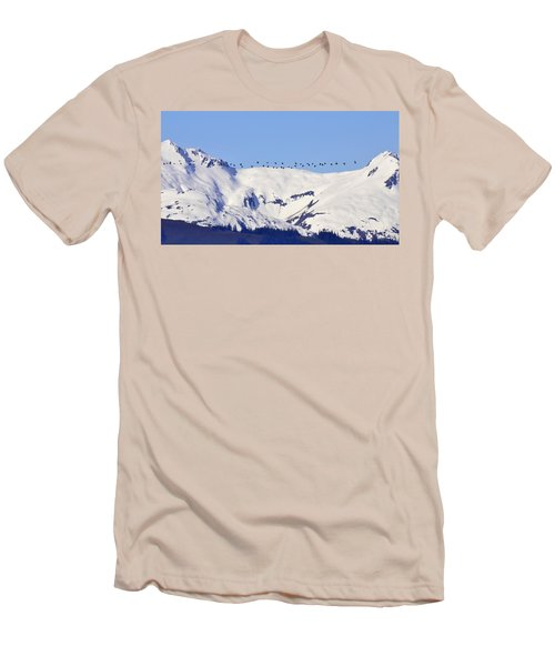 Mountaintop Geese Men's T-Shirt (Athletic Fit)