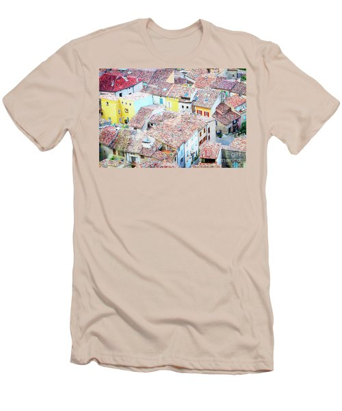 Moustiers Sainte Marie Roofs Men's T-Shirt (Slim Fit) by Anastasy Yarmolovich