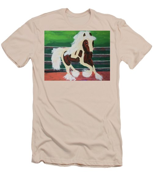 Men's T-Shirt (Athletic Fit) featuring the painting Moving Horse by Donald J Ryker III