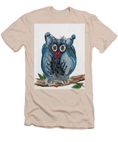 Mr. Blue Owl Men's T-Shirt (Athletic Fit)