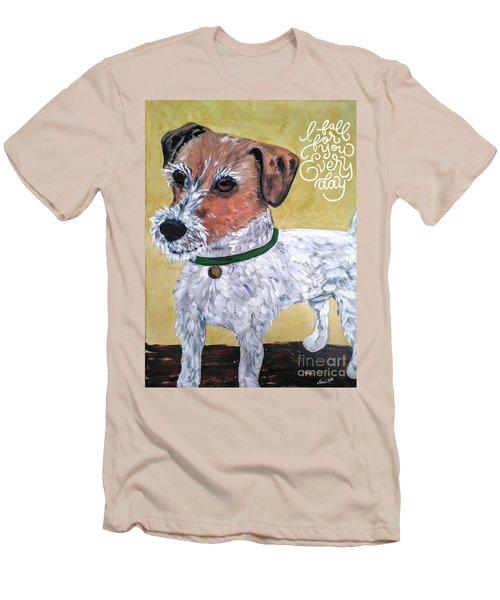 Mr. R. Terrier Men's T-Shirt (Slim Fit) by Reina Resto