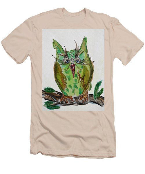 Mr.lime Owl Men's T-Shirt (Athletic Fit)