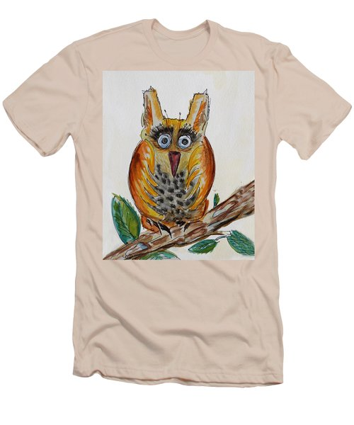 Mr.orange Owl Men's T-Shirt (Athletic Fit)