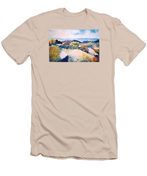 Men's T-Shirt (Slim Fit) featuring the painting Mt Lemmon View by M Diane Bonaparte