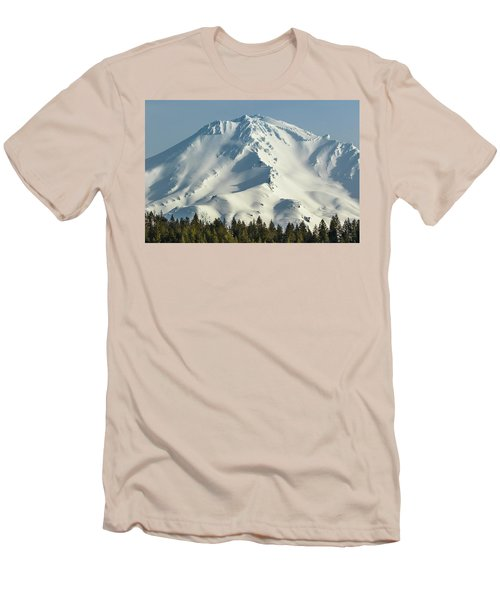 Men's T-Shirt (Slim Fit) featuring the photograph Mt Shasta In Early Morning Light by Marc Crumpler