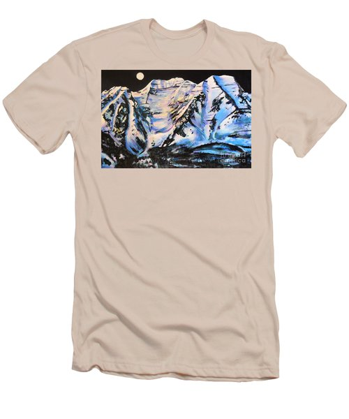 Mt. Timpanogos Under A Full Moon Men's T-Shirt (Athletic Fit)