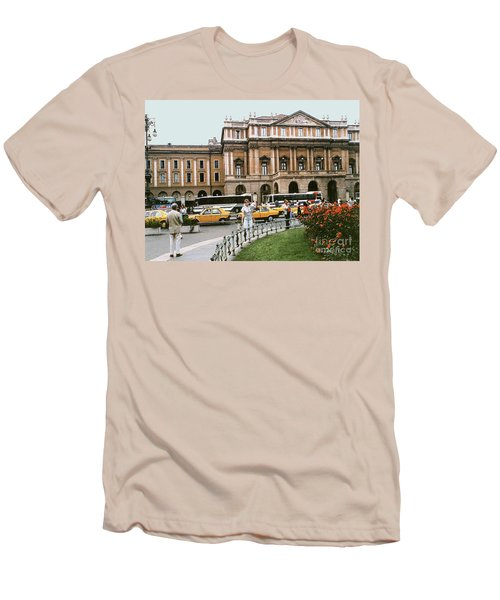 Men's T-Shirt (Athletic Fit) featuring the photograph Museum Housing Leonardo Divinci's Last Supper Painting - Milan, Italy by Merton Allen