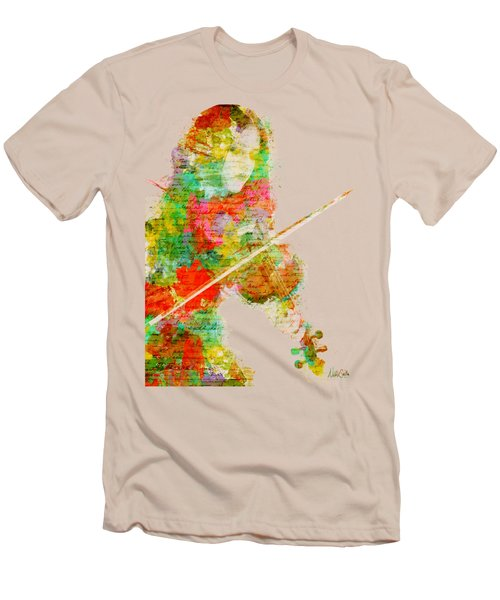 Music In My Soul Men's T-Shirt (Slim Fit) by Nikki Smith