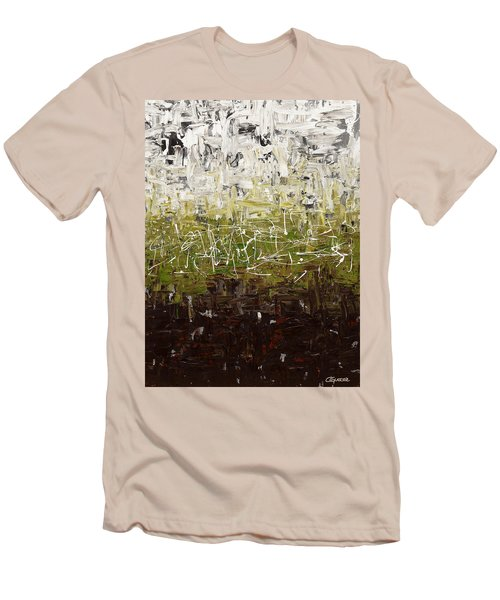 Men's T-Shirt (Slim Fit) featuring the painting Musing by Carmen Guedez