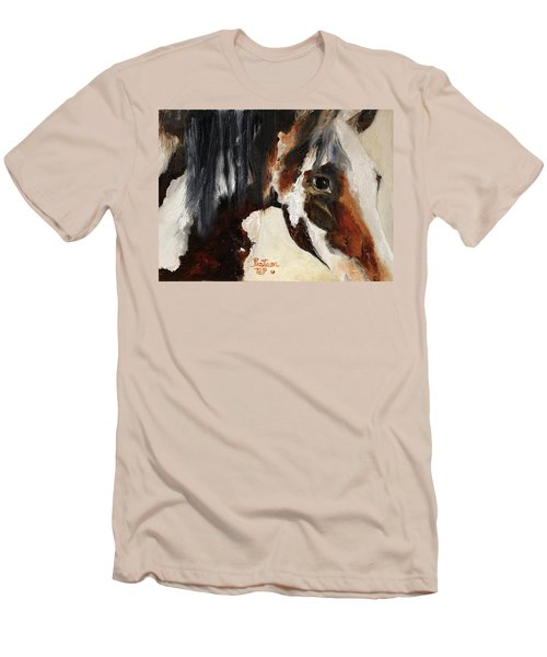 Mustang In My Heart Men's T-Shirt (Slim Fit) by Barbie Batson