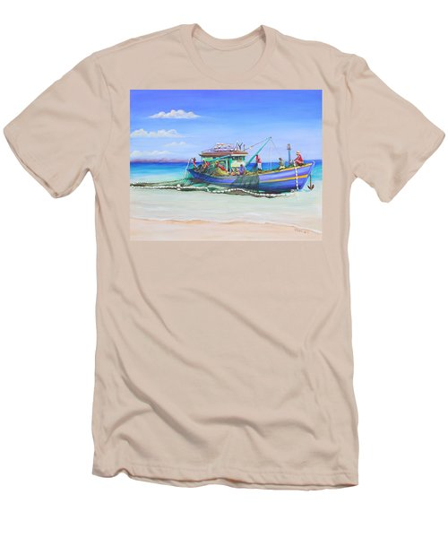 Men's T-Shirt (Slim Fit) featuring the painting Mv Alice Mary by Patricia Piffath