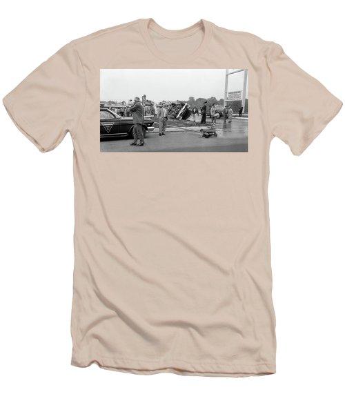Mva At Shopping Center Men's T-Shirt (Slim Fit) by Paul Seymour