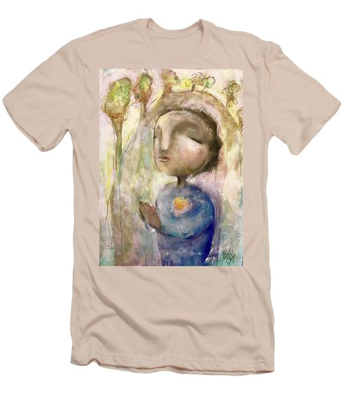 Men's T-Shirt (Slim Fit) featuring the mixed media My Faith by Eleatta Diver