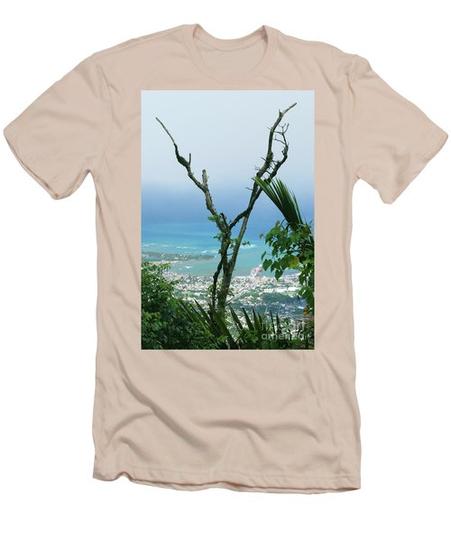My Favorite Wishbone Between A Mountain And The Beach Men's T-Shirt (Athletic Fit)