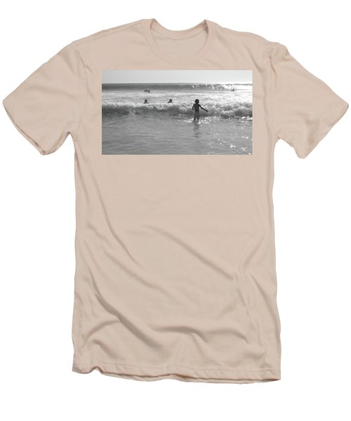 My Fist Time In The Sea Men's T-Shirt (Slim Fit) by Beto Machado