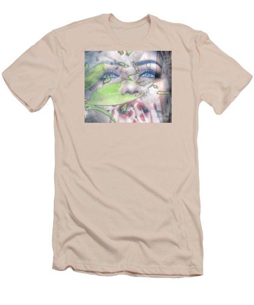 My Green Lady Men's T-Shirt (Slim Fit) by Yury Bashkin