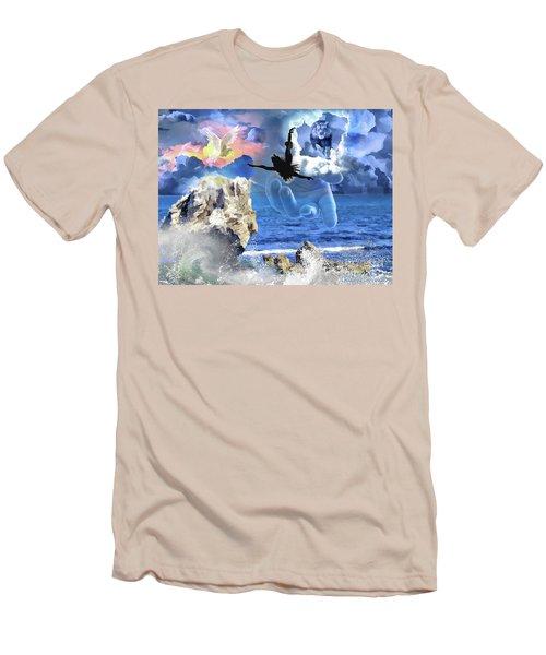 Men's T-Shirt (Slim Fit) featuring the digital art My Savior by Dolores Develde