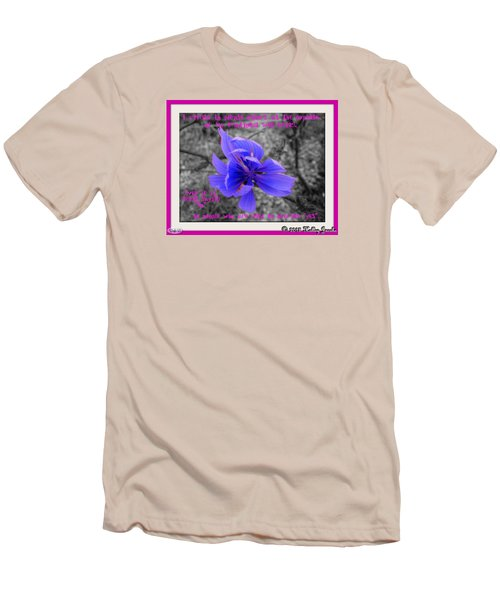 Men's T-Shirt (Slim Fit) featuring the digital art My Well-being by Holley Jacobs