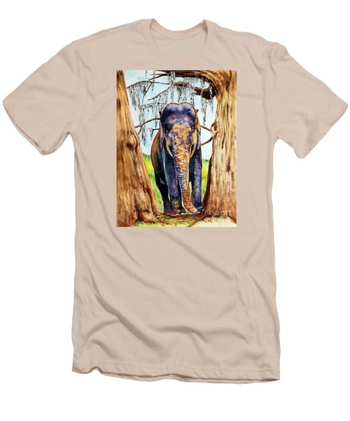 Men's T-Shirt (Slim Fit) featuring the painting Mysore by Maria Barry