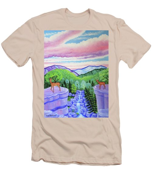Mystic Mountain Men's T-Shirt (Slim Fit) by Tracy Dennison